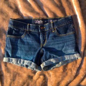 Hollister Midi Shorts Dark Wash Jean Short Denim
